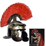 Qinsir Crusader Templar Knight,Casco Romano,Romano Centurión Soldado Armadura Casco Romano Réplica Medieval Sugarloaf Armadura Casco Gran Helm,Generalcap