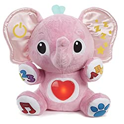 Soft and cuddly elephant with 240+ sing-along songs, sounds and phrases Exposes baby to textures, cuddles and tickles. Contagious laughter begins when you tickle Lalaphant's tummy Encourage cuddles – tummy features soft glow light Teaches your little...