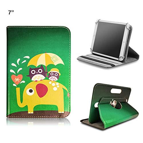 BEISK Funda Universal para Tablet de 7-8 Pulgadas, con Sistema Giratorio de 360º, Rotación, Protección, con Soporte, para Huawei Mediapad/Samsung Galaxy Tab/Lenovo, Etc. Animales