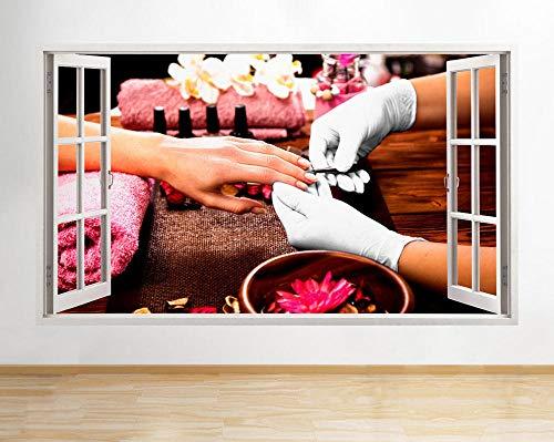 Wandaufkleber R935 Nails Beauty Spa Pamper Girl Window Wall Decal 3D Art Stickers Vinyl Room