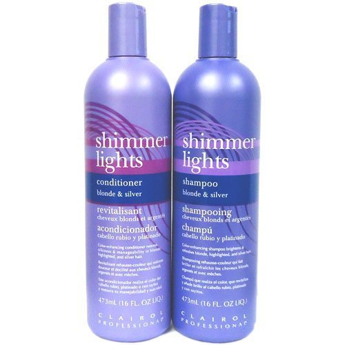 Clairol Shimmer Lights Shampoo + Conditioner 16 oz Combo Set Big Sale!!! by Clairol