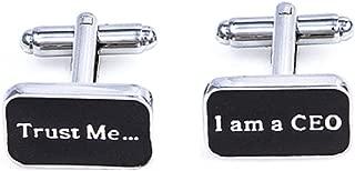 Trust me I am a CEO Pair Cufflinks in a Presentation Gift Box & Polishing Cloth