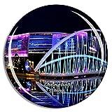 Weekino China Zhongtian Future Ark Guiyang Imán de Nevera 3D de Cristal de la Ciudad de Viaje Recuerdo Colección de Regalo Fuerte Etiqueta Engomada refrigerador