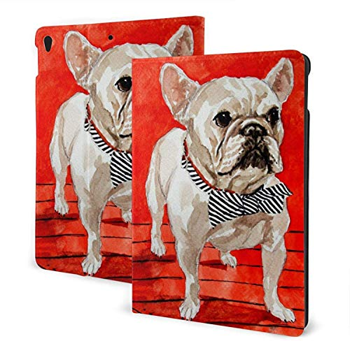 Animal French Bulldogs Case for New iPad 7th/8th Generation, iPad 10.5Case, Slim Stand Hard Back Shell Protective Smart Cover Case with Auto Sleep/Wake Feature