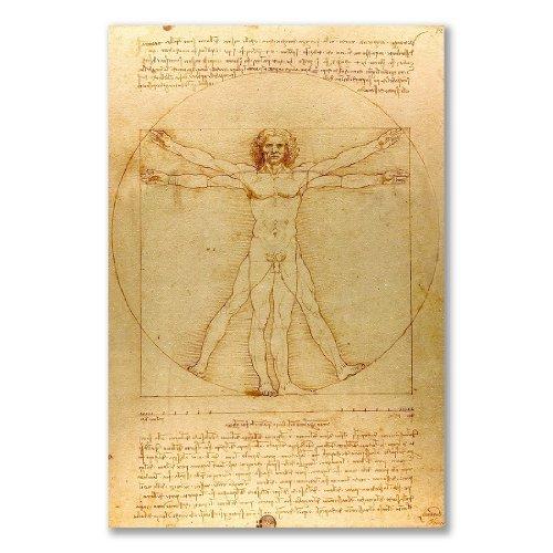 –Poster, motivo: uomo vitruviano leonardo da vinci Venezia (A3Maxi–28,8x 43.2cm/11,3x 17in, Carta satinata semi-lucida)