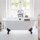 Vintage Tub & Bath Cambridge 66 Inch Cast Iron Double Ended Clawfoot Tub - Rim Faucet Drillings