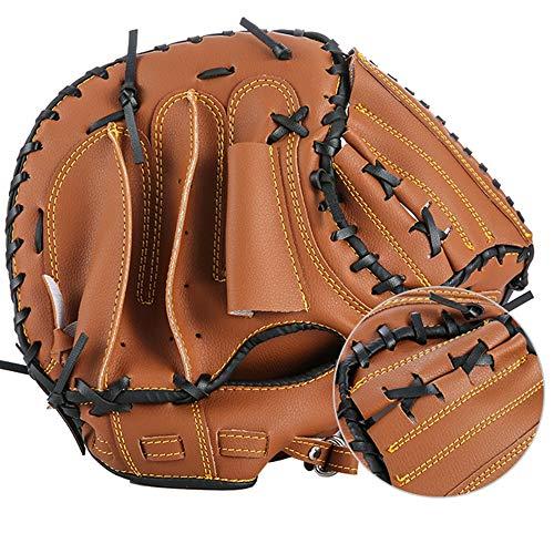 DaDong Baseball-Handschuhe mit weichem festem PU-Leder Eindickung Pitcher Softball-Handschuhen für Kinder/Jugendliche/Erwachsene Professionellen Baseball Mitt für Catching - Left Hand Wurf