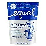 EQUAL 0 Calorie Sweetener, Granulated Sweetener, Sugar Substitute, Zero Calorie Sugar Alternative, Sugar Alternative, 1 Pound Bulk Bag (Pack of 6)