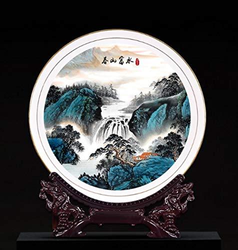 Jingdezhen decoratieve plaat porselein plaat nieuwe Chinese keramische zitplaat opknoping plaat woonkamer veranda wijnkast TV kast plaat decoratie