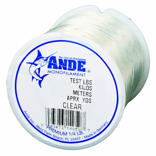 ANDE Premium Monofilament Line with 150-Pound Test, Clear, 0.25-Pound...