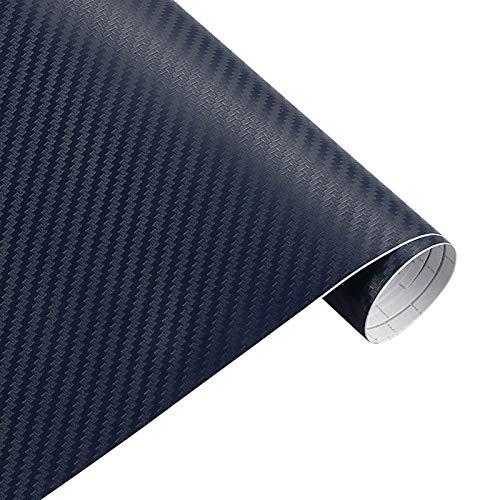 DSQ 200cm * 30cm 3D-Carbon-Faser-Vinylfilm 3M Auto-Aufkleber wasserdichtes DIY Motorrad Automobil Car Styling-Verpackungs-Rollen Zubehör (Color Name : 3D Blue)