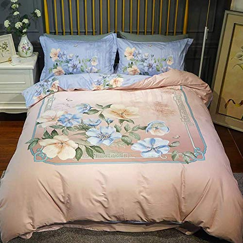 ZTBXQ Bed Accessories for Bedroom Double Duvet Covers Set Set Bedding Cot 100% Cotton Duvet Cover With Pillowcase Sheets Human European 5 Star Hotel Bedding Articles