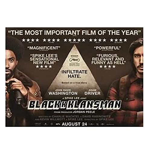 Qqwer Blackkklansman Film Posters And Prints Canvas Wall Art Printed Painting Pictures Home Decoration Gift -50X70Cmx1Pcs -No Frame