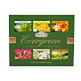 Ahmad Tea, EverGreen Selection - Selezione di Tè Verde Puro o Aromatizzato alla Frutta/Fiori in 6 Gusti Diversi - Cofanetto con 6 Confezioni da 10 Bustine