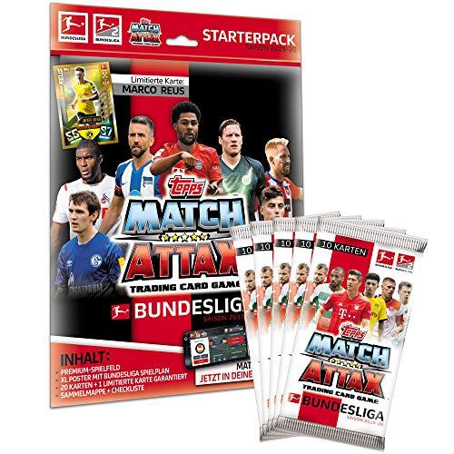 CAGO Topps Match Attax 2019/20 - 1 Starter + 5 Booster - Deutsch