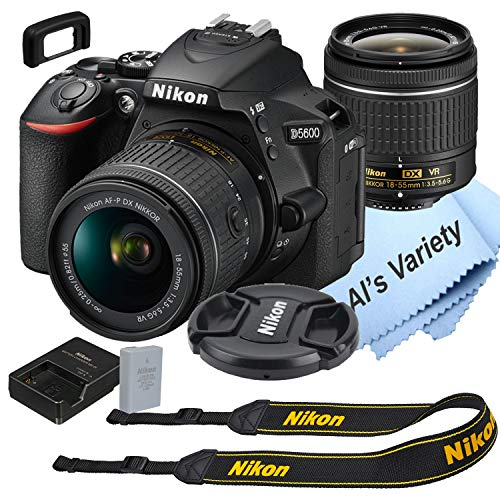 Nikon D5600 DSLR Camera Kit with 18-55mm VR Lens | Built-in Wi-Fi | 24.2 MP CMOS Sensor | EXPEED 4 Image Processor and Full HD 1080p Video Recording at 60 fps| SnapBridge Bluetooth Connectivity