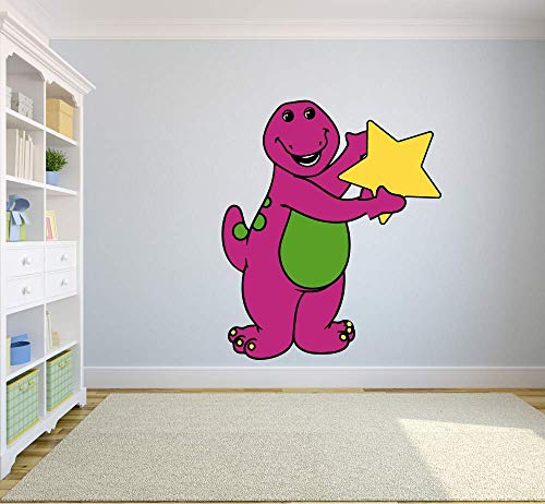 Barney and Friends Dinosaur Star Decors Wall Sticker Art Design Decal for Girls Boys Kids Room Bedroom Nursery Kindergarten House Fun Home Decor Stickers Wall Art Vinyl Decoration (20x12 inch)