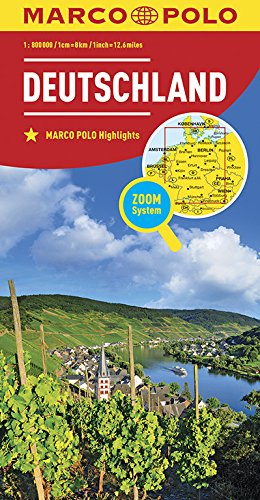 Marco Polo Duitsland: Wegenkaart 1:800 000