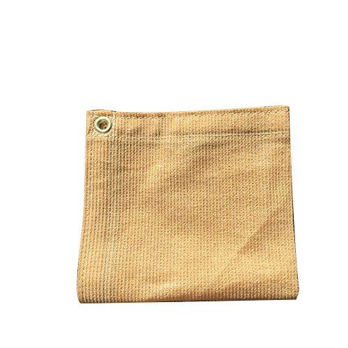 XTARPS - 12 ft. x 14 ft. - 7 OZ Premium 90% Shade Cloth, Shade Sail, Sun Shade (Sand Color)