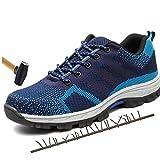 Dxyap Calzado de Trabajo, Zapato Seguridad Zapatos Trabajo con Punta de Acero Antideslizante, Senderismo Unisex-Adulto Ligeras Comodas,10.5