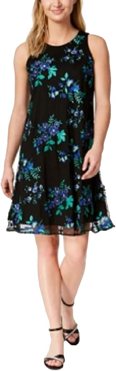 Charter Club Embroidered Swing Dress