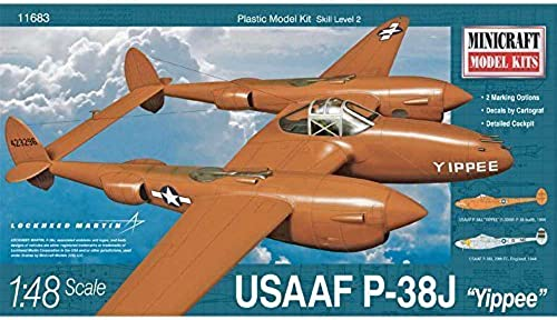 MINICRAFT MODELS 11683 1 48 P-38J USAAF w 2 Marking Options by Minicraft Models