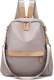 Simple Backpack Travel School Shoulder Bag Daypack (Color : Khaki)