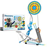 Discovery Kids Bullseye Outdoor Archery Set with LED Target Light-Up Toy Night/Day Activity Includes 4 Arrows, Quiver with Strap, 1 Bow for Ages 6+ and Older