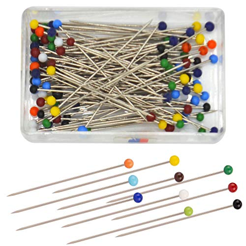 38mm TOYMIS 500pcs Sewing Pins Ball Head Multicolor Head Pins Straight Quilting Pins with Pearl Heads for Dressmaker Jewelry Decoration