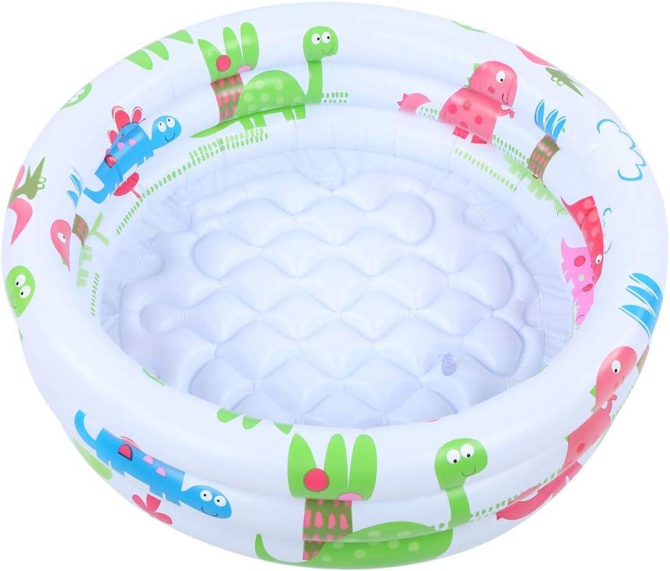 Piscina para bebés, inflable redonda para bebés, niños pequeños, piscina inflable portátil para niños, bomba pequeña, dinosaurio de dibujos animados, piscina interior al aire libre para niños, niñas y