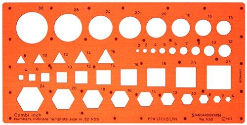 Imperial 32 NDS 1/81,3 cm Cercle Carré Triangle Hexagone dessin de rédaction Pochoir Cercle Carré Triangle Hexagone Symboles Forme Figurines dessin de rédaction Pochoir