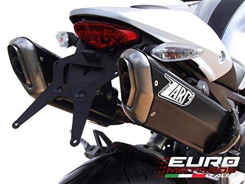 Ducati Monster 696 796 1100 Zard Exhaust Penta Mufflers Carbon Racing +2.5HP