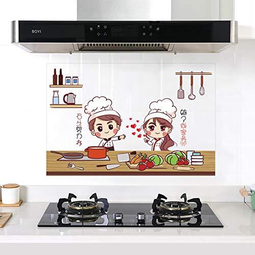 YOUKU Pegatinas Transparentes a Prueba de Aceite de Cocina Gabinete Impermeable Estufa con máquina de Humo Azulejos de Alta Temperatura Papel Tapiz para gabinetes Pasta de Pared Autoadhesiva