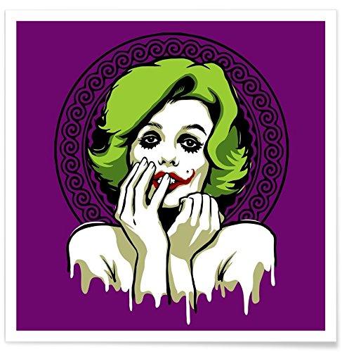 Juniqe® Affiche 50x50cm Pop Art - Design Some Like It Rotten (Format : Carré) - Poster, Tirages d'art & Tableaux par des Artistes indépendants créé par Butcher Billy