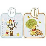 Babycalin Set de 2baberos 1er edad Winnie 28x 32cm, Naranja/Azul