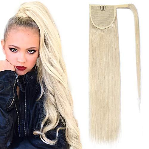 SEGO Ponytail Pferdeschwanz Haarteil Zopf extensions Haarverlängerung clip in Pony echthaar remy Hair Piece