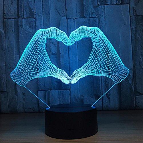 baby Q LED 3D Lampe, Touches colorées acryliques de Contact, lumières créatives de Cadeau, lumières actionnées par USB