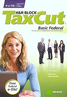 H&R Block TaxCut 2008 Tax Cut Basic Federal