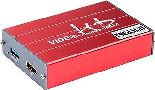 TreasLin hdmi キャプチャーボード Switch、Xbox、Wii U、PS4、PS3 ゲーム 実況ゲーム録画機器、OBS/Potpalyerライブ配信用 1080P Windows7/8/10、Macbook Youtube/Tw...