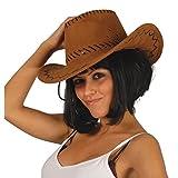 Zoom IMG-1 guirca 13070 cappello cowboy marrone