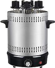 CHUIX Horno eléctrico sin Humo Grill Inicio automático giratoria Barbacoa Brocheta a la Parrilla Kebab Máquina 220V, Astilla