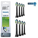 Philips Genuine Sonicare Optimal Electric Toothbrush Replacement Brush Heads, 8 Pack, Black
