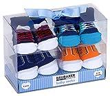 BRUBAKER 4 paia di calze neonato da 0-12 mesi - calzini maschili design classico