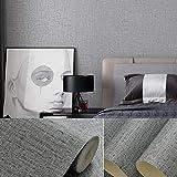 15.7'x118' Grasscloth Peel and Stick Wallpaper Gray Contact Paper...