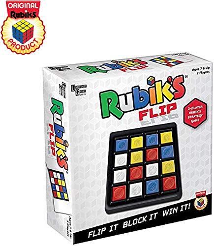University Games Rubik'S Flip | Juego de Mesa para 2 Jugadores con Estrategia de Movimiento rápido