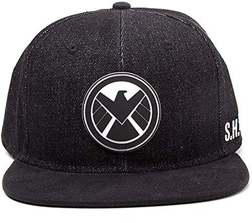 Meroncourt Marvel Comics Avengers Assemble Shield Logo Snapback Baseball Cap, One Size, Dark Grey (Sb097530Avg) Casquette, Noir, Taille Unique Mixte