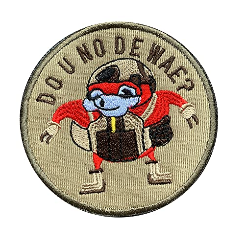 Antrix Funny Do U No De Wae? Patch, Tactical Gaming Combat Badge Military Hook and Loop Patch for Kids Adult Vest Hat Backpack Etc -Dia 3.15'