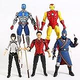 xingguang Figuras de acción coleccionables para niños de anime Marvel Legends Shang Chi Death Dealer Xialing Iron Man Capitán América 5pcs/set (color : bolsa)