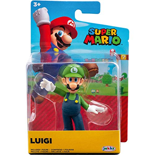 Super Mario Brothers World of Nintendo 2.5' Luigi Collectible Figure