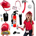 10 pcs Fireman Toys for Kids fireman Costume - Fire Toys Role Play Accessories great for Halloween,Dress Up,Pretend Play,indoor and outdoor,Pool,summer or all year fun for Toddlers and kids by Born Toys